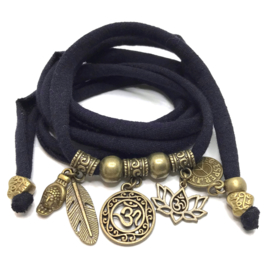 OHM lotus - brons - donkerblauw