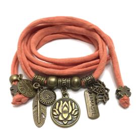 Lotus Flower - brons - zalm