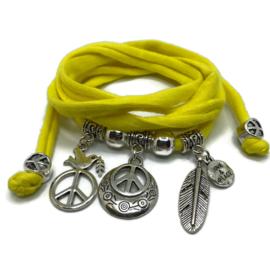 Peace thema - zilver hard geel