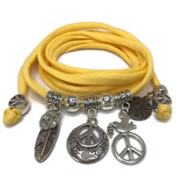 Peace - zilver - geel