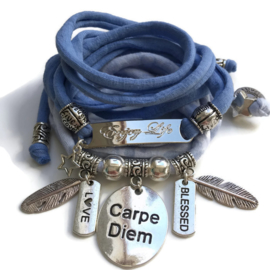 Set silvercolor Carpe Diem - Enjoy Life (also available in other colors)