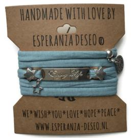 3 x Silver color text bracelets - Vintage mint