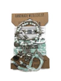 Set Love Ibiza - Buddha Ibiza - mint en wit