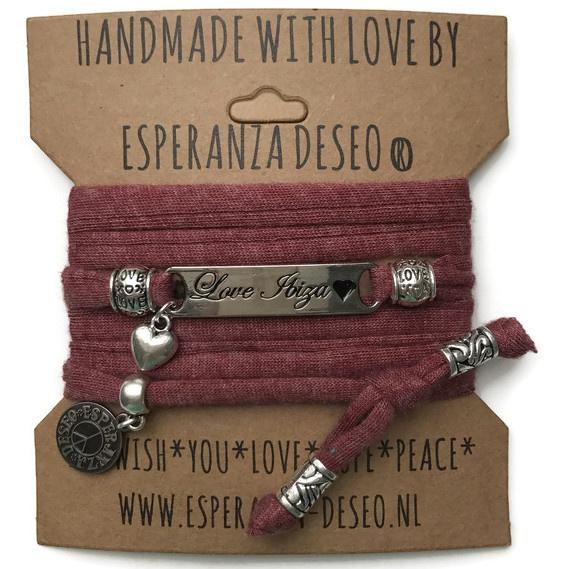 3 x Silver color text bracelets - Gemeleerd brick