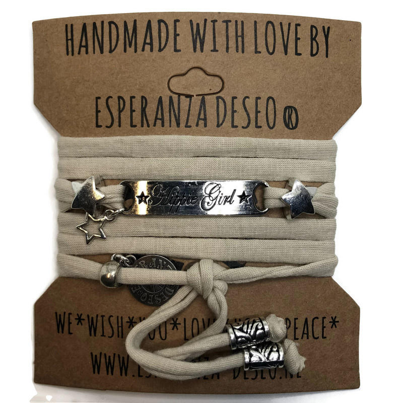 3 x Silver color bar bracelets - sand