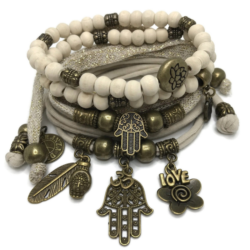 Set brons - Hamsa - Gold and Sand