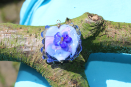 Grote glas hanger blauw