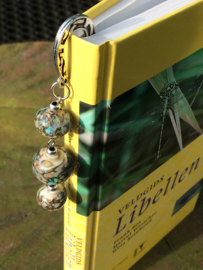 Boekenlegger met handgemaakte glaskralen