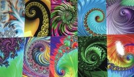 Set van 10 fractal kaarten
