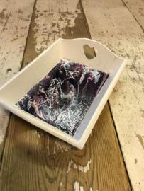 klein dienblad paars