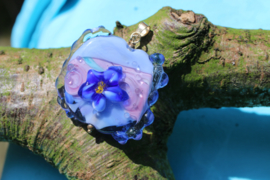 Grote glas hanger blauw
