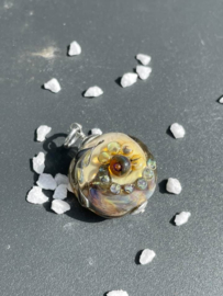 abstracte bloem op naturel glashanger