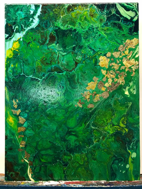 groen met bladgoud