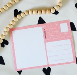 Ansichtkaart- Een papieren knuffel voor jou