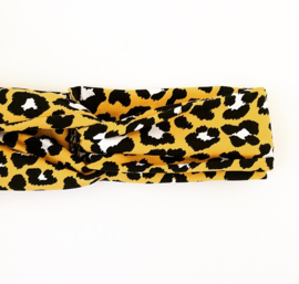 Haarband tijger geel