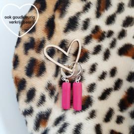 Oorbellen LABEL pink