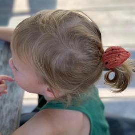 Haarstrikje caramel dots