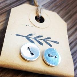 Veertjes oorbellen- knopjes
