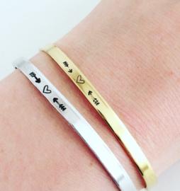 Love armband hartje