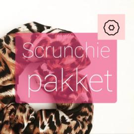 Scrunchie pakket tricot - 5 stuks mix tricot en velvet