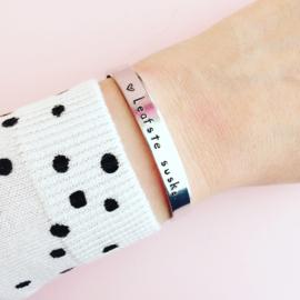 Friese armband eigen tekst- Leafste Suske
