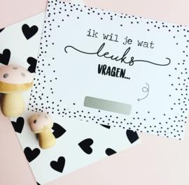 Kraskaart- huwelijk verrassing