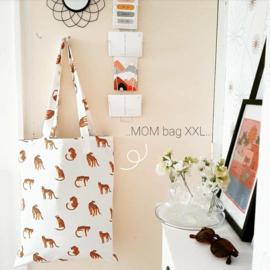 XXL Mom bag luipaard beige