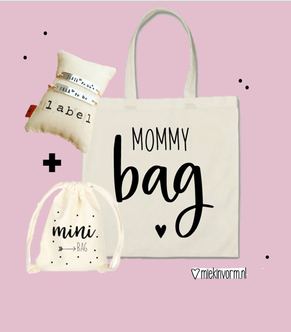 Mommy bag + Mini bag + Mommy to be armband