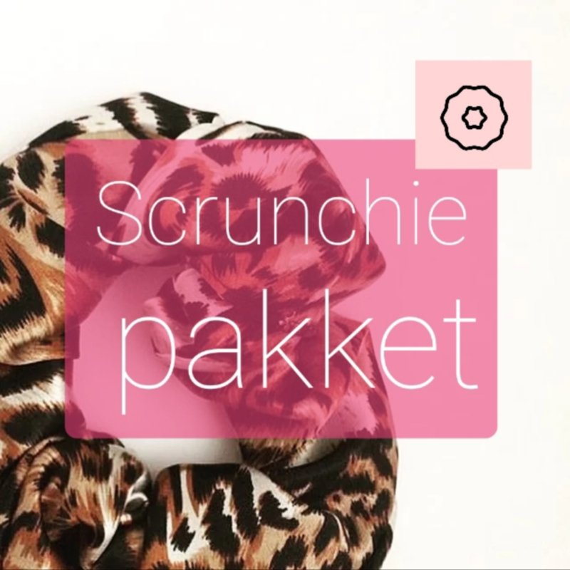 Scrunchie pakket tricot - 10 stuks