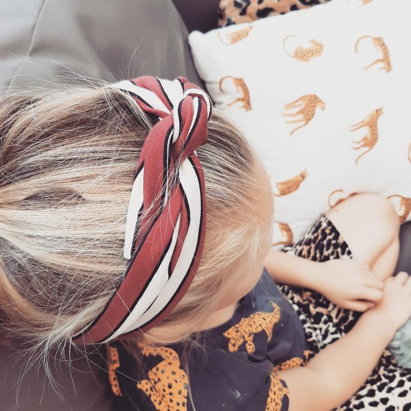 Knoop haarband stripe mini