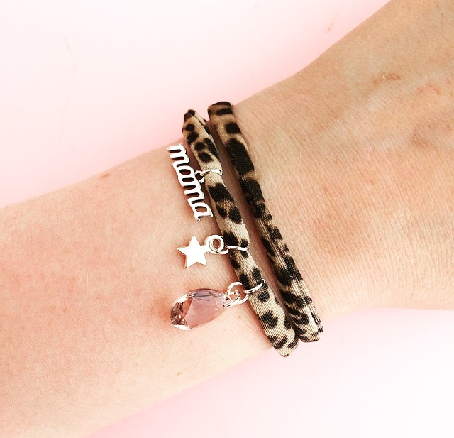Mama armband tijger | Mommy to be collectie | Label by Simoon