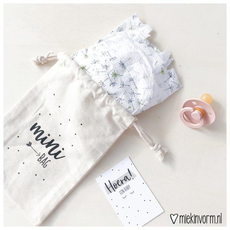 Mini bag- stoffen zakje