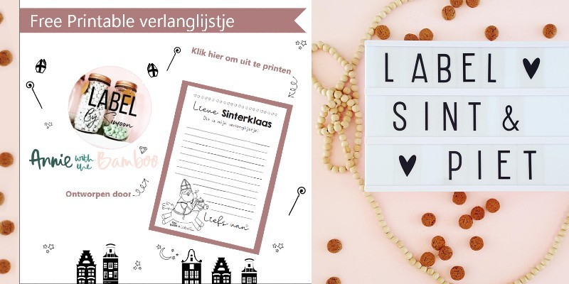 Free printable Sinterklaas