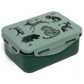 Lunchbox wilde dieren groen - Petit Monkey