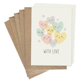 Kleine dubbele kaart With love