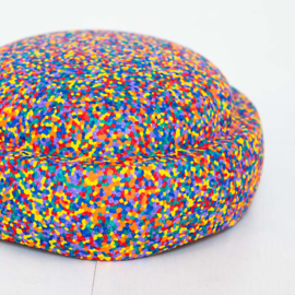Stapelstein regenboog confetti - 6 stenen + GRATIS CONFETTI STEEN