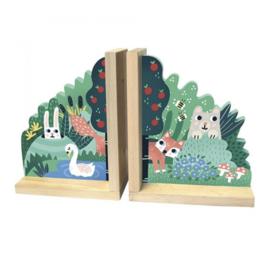 Houten boekensteunen bosdieren - Vilac