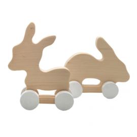Houten konijn en ezel - Pinch Toys