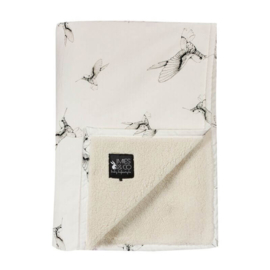 Mies en co Soft teddy blanket Cloud Dancers - Ledikant (offwhite)