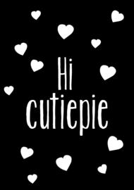 GRATIS KAARTJE bij bestelling - Hi cutiepie