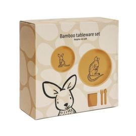 Bamboe kinderservies kangoeroe - Petit Monkey