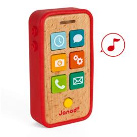 Houten telefoon met geluid - Janod