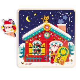 3 lagen puzzel - Kerstavond Janod