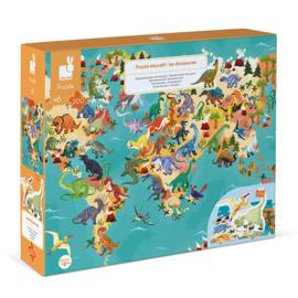 Dinosaurus Educatieve puzzel met figuren - Janod