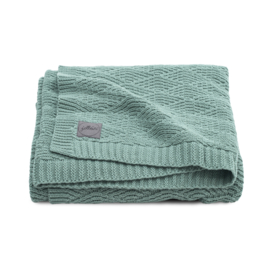 Deken River knit ash green - Jollein