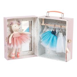Muis ballerina in koffertje - Moulin Roty