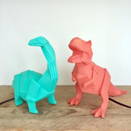 T-rex dinosaurus origami lamp