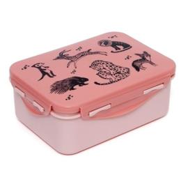Lunchbox wilde dieren roze - Petit Monkey