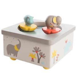 Muziekdoosje Moulin Roty olifant en nijlpaard