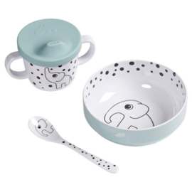 Eetset First meal Happy dots blue - Done by Deer
